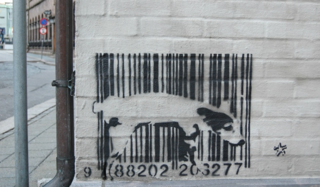 Peeing on barcode